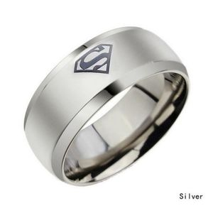 Superman logo ring couple ring engagement ring man